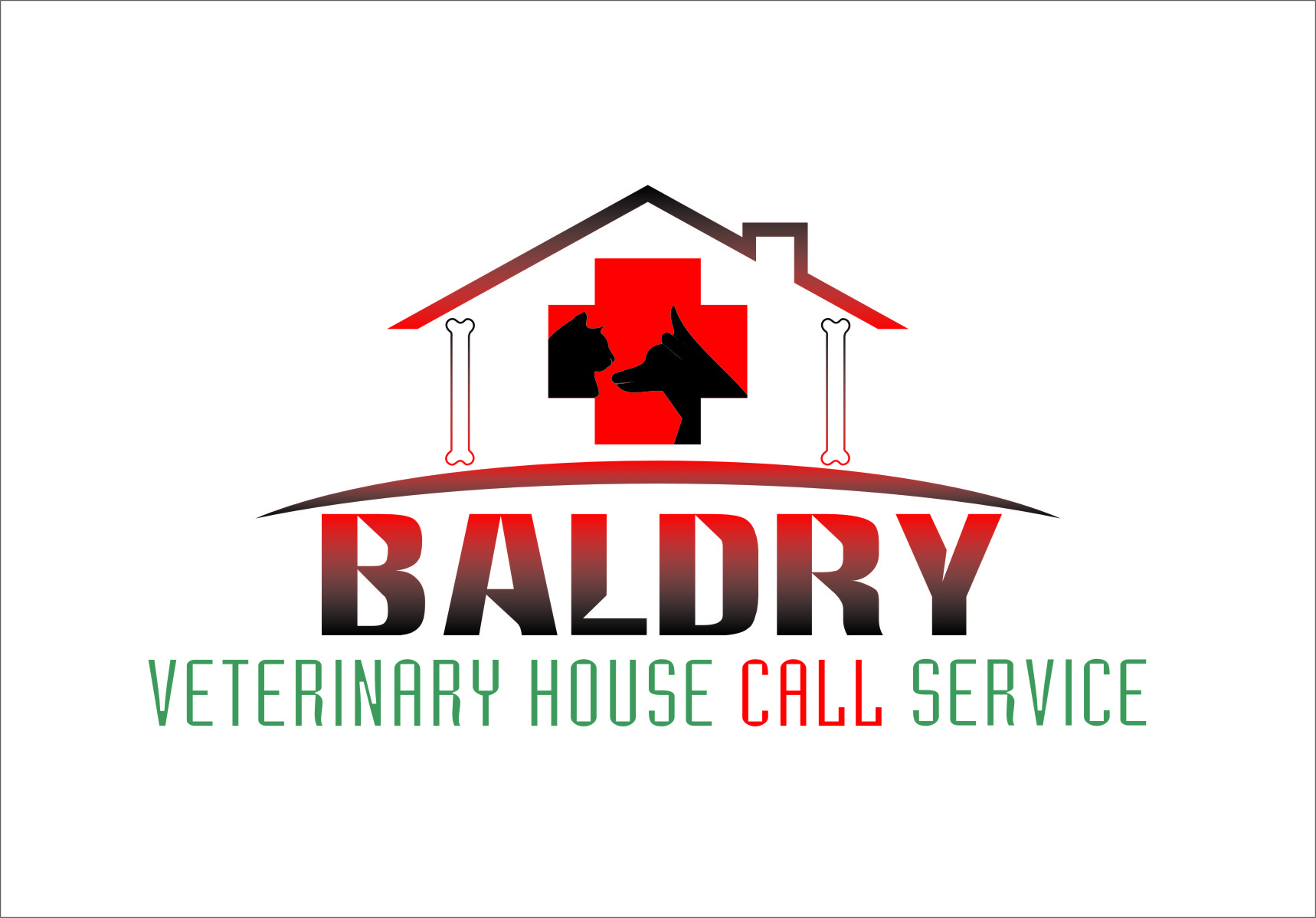 Logo Design by RasYa Muhammad Athaya - Entry No. 81 in the Logo Design Contest Captivating Logo Design for Baldry Veterinary House Call Service.