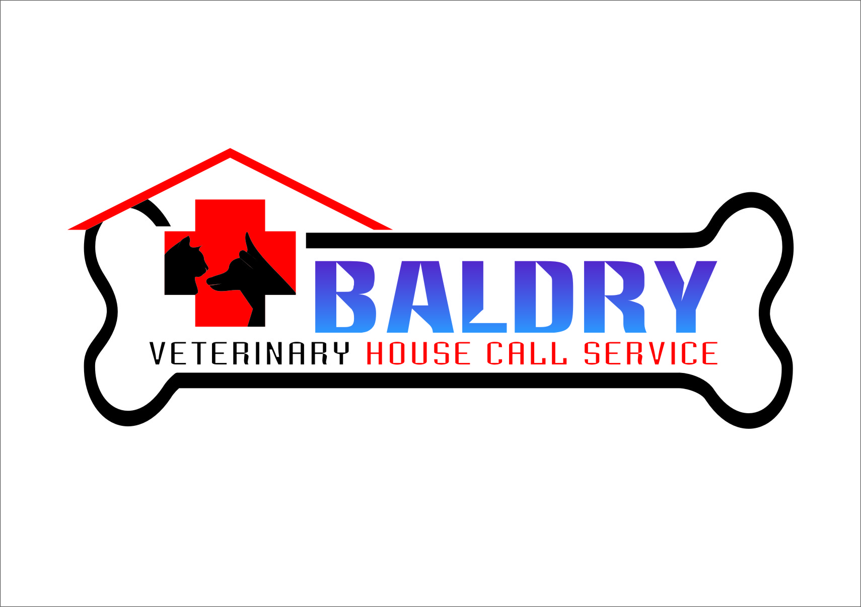 Logo Design by RasYa Muhammad Athaya - Entry No. 82 in the Logo Design Contest Captivating Logo Design for Baldry Veterinary House Call Service.
