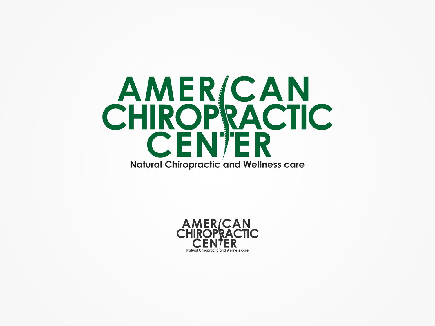 Logo Design by Qoaldjsk - Entry No. 242 in the Logo Design Contest Logo Design for American Chiropractic Center.