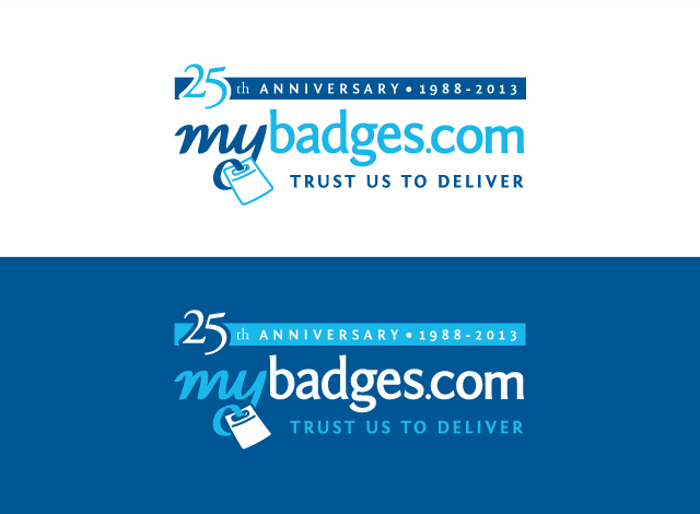 Logo Design by Private User - Entry No. 76 in the Logo Design Contest 25th Anniversary Logo Design Wanted for MyBadges.com.
