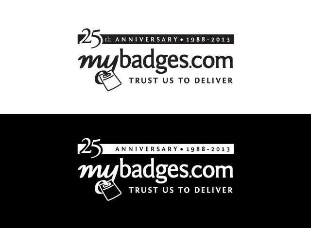 Logo Design by Private User - Entry No. 77 in the Logo Design Contest 25th Anniversary Logo Design Wanted for MyBadges.com.