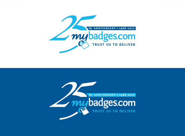 Logo Design by Private User - Entry No. 78 in the Logo Design Contest 25th Anniversary Logo Design Wanted for MyBadges.com.