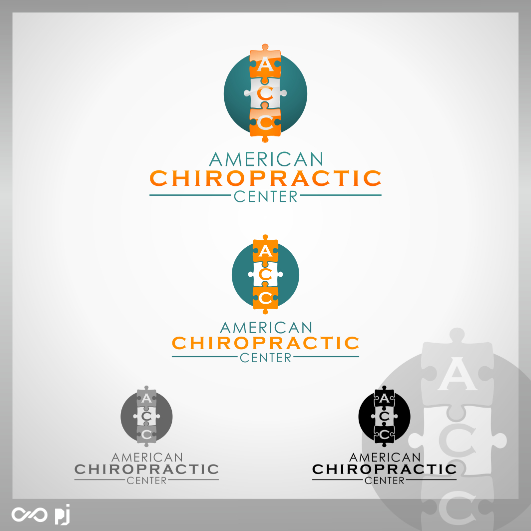 Logo Design by PJD - Entry No. 246 in the Logo Design Contest Logo Design for American Chiropractic Center.