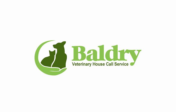 Logo Design by Respati Himawan - Entry No. 86 in the Logo Design Contest Captivating Logo Design for Baldry Veterinary House Call Service.
