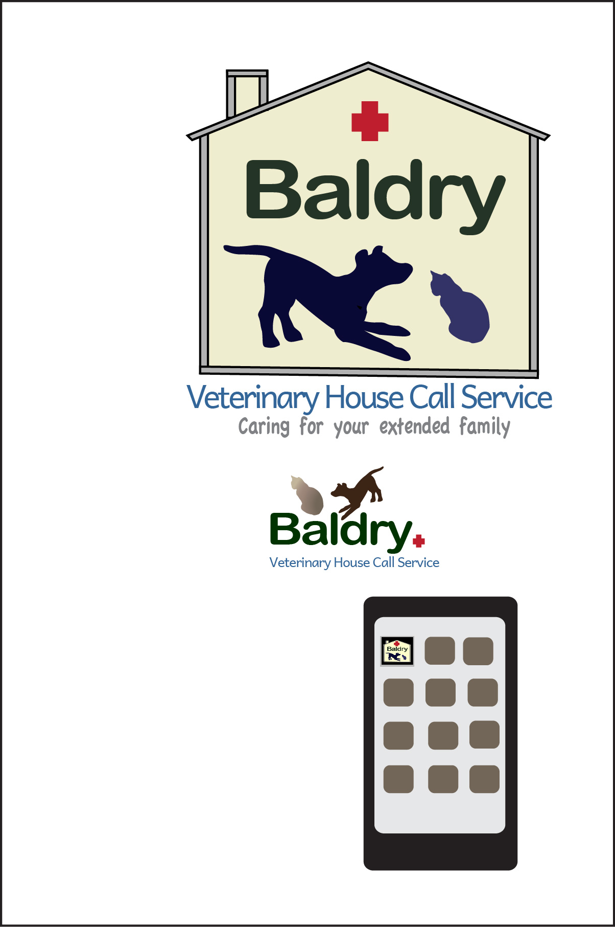Logo Design by Nancy Grant - Entry No. 89 in the Logo Design Contest Captivating Logo Design for Baldry Veterinary House Call Service.