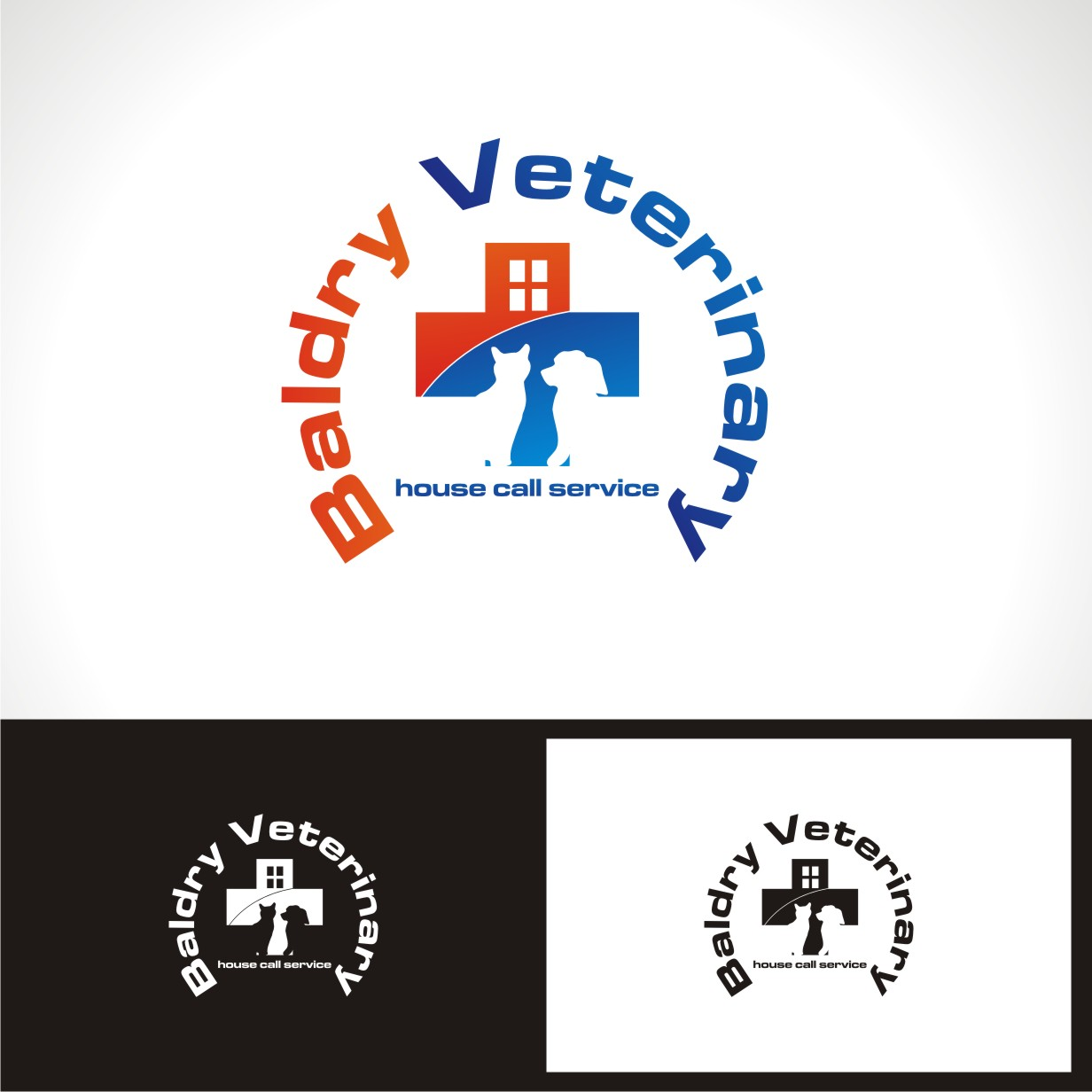 Logo Design by jalal - Entry No. 92 in the Logo Design Contest Captivating Logo Design for Baldry Veterinary House Call Service.
