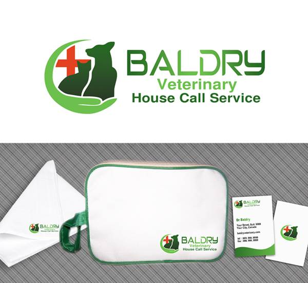 Logo Design by Respati Himawan - Entry No. 95 in the Logo Design Contest Captivating Logo Design for Baldry Veterinary House Call Service.