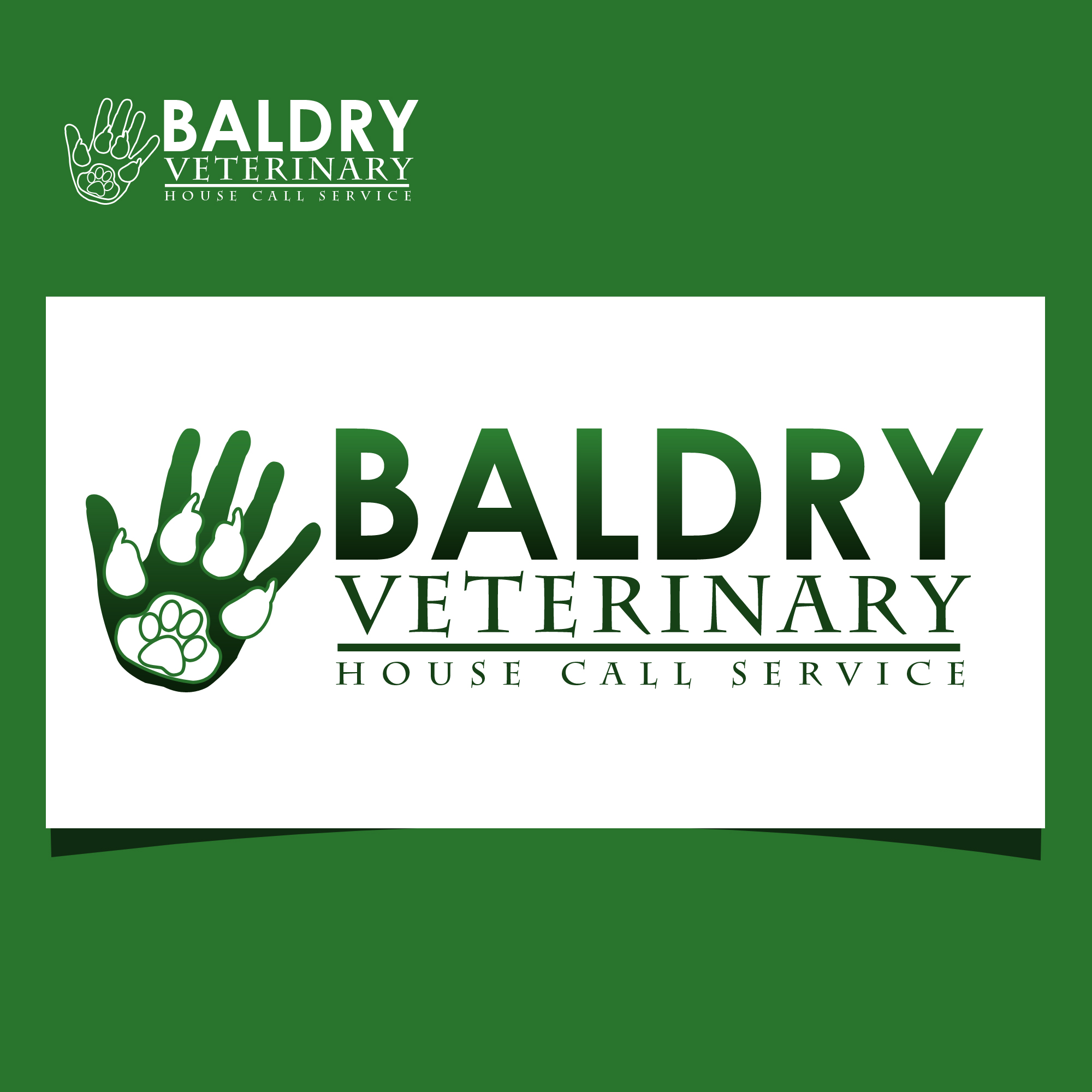 Logo Design by omARTist - Entry No. 102 in the Logo Design Contest Captivating Logo Design for Baldry Veterinary House Call Service.