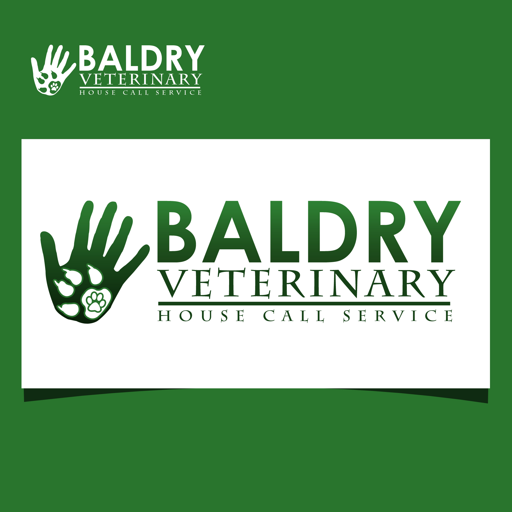 Logo Design by omARTist - Entry No. 106 in the Logo Design Contest Captivating Logo Design for Baldry Veterinary House Call Service.