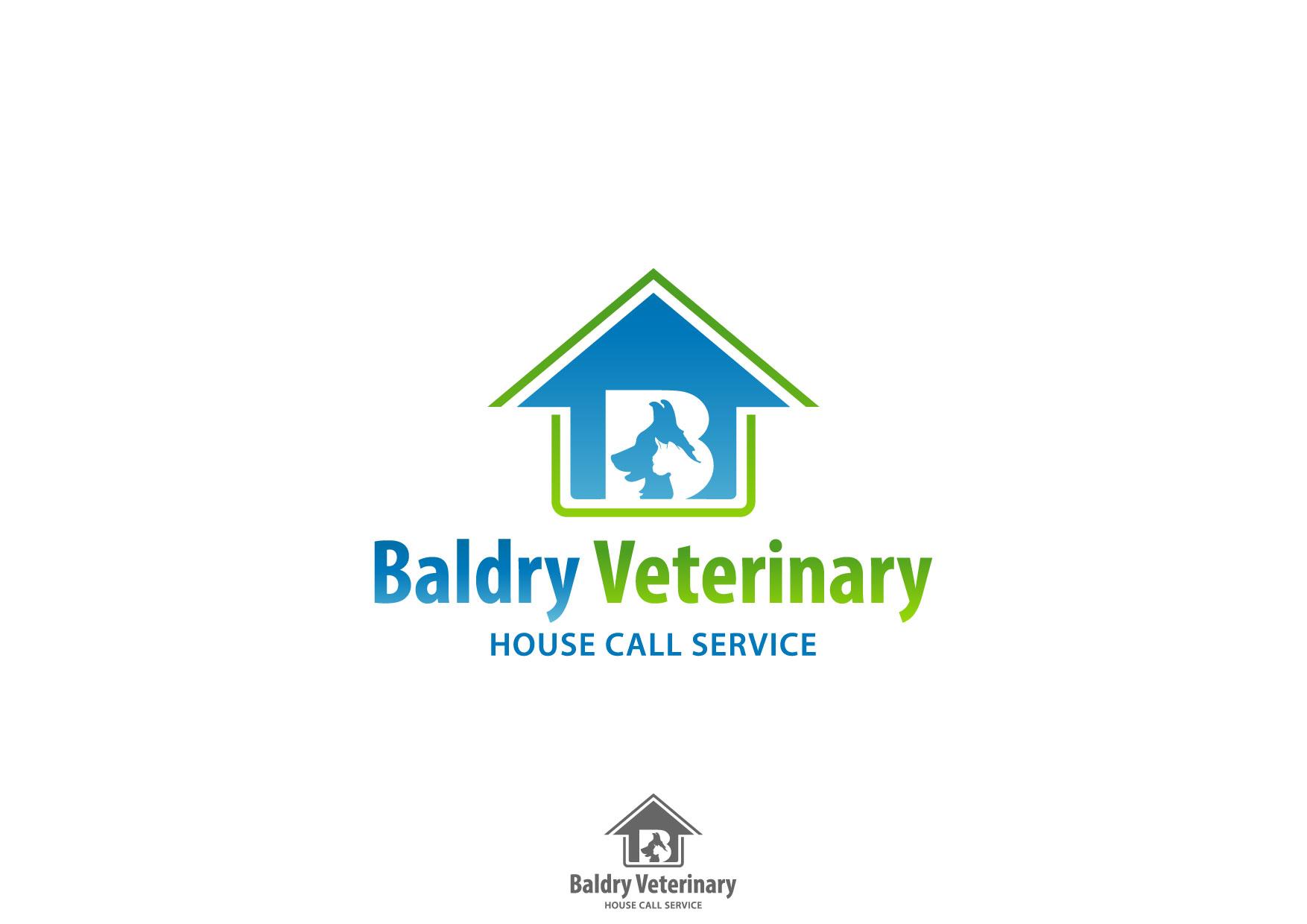 Logo Design by Nurgalih Destianto - Entry No. 120 in the Logo Design Contest Captivating Logo Design for Baldry Veterinary House Call Service.