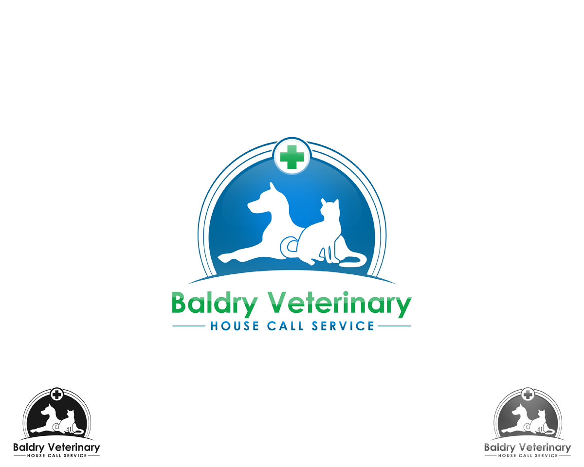 Logo Design by Qoaldjsk - Entry No. 121 in the Logo Design Contest Captivating Logo Design for Baldry Veterinary House Call Service.