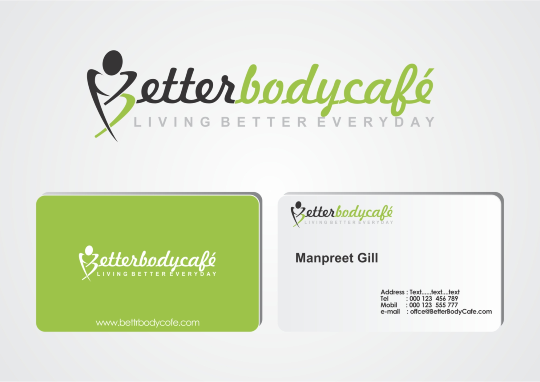 Logo Design by Private User - Entry No. 80 in the Logo Design Contest New Logo Design for Better Body Cafe.