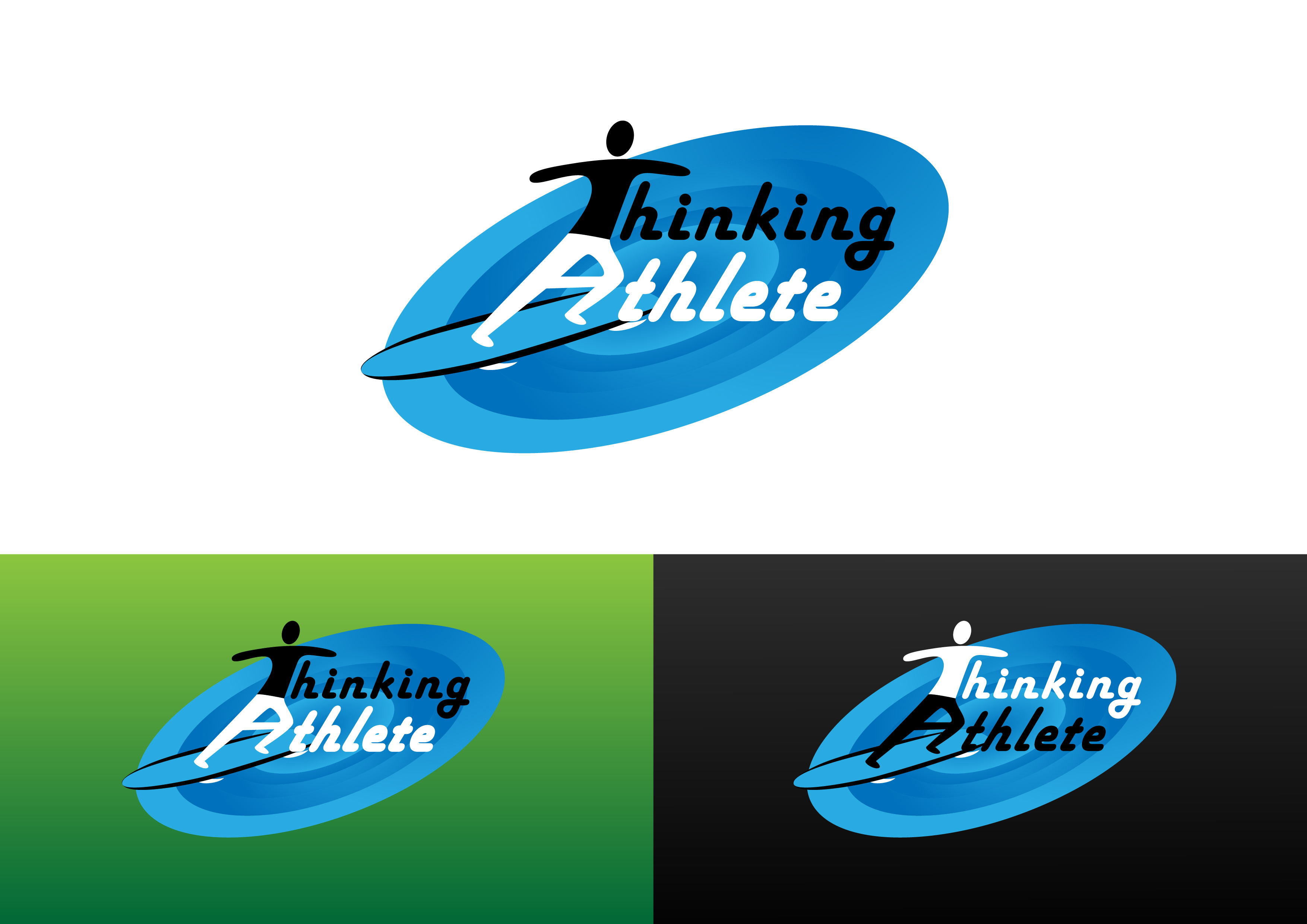 Logo Design by 3draw - Entry No. 12 in the Logo Design Contest Thinking Athlete Logo Design.