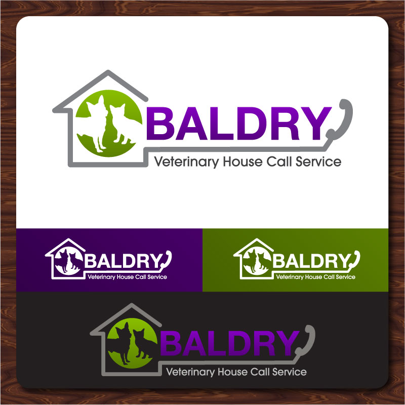 Logo Design by Rommel Delos Santos - Entry No. 122 in the Logo Design Contest Captivating Logo Design for Baldry Veterinary House Call Service.
