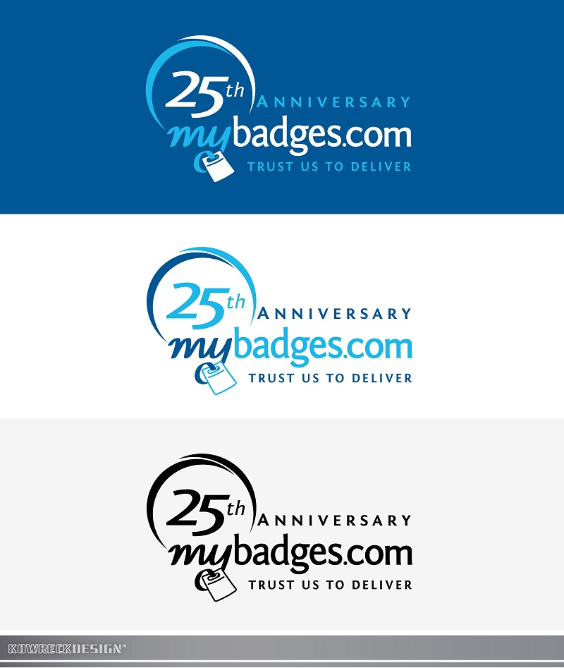 Logo Design by kowreck - Entry No. 84 in the Logo Design Contest 25th Anniversary Logo Design Wanted for MyBadges.com.
