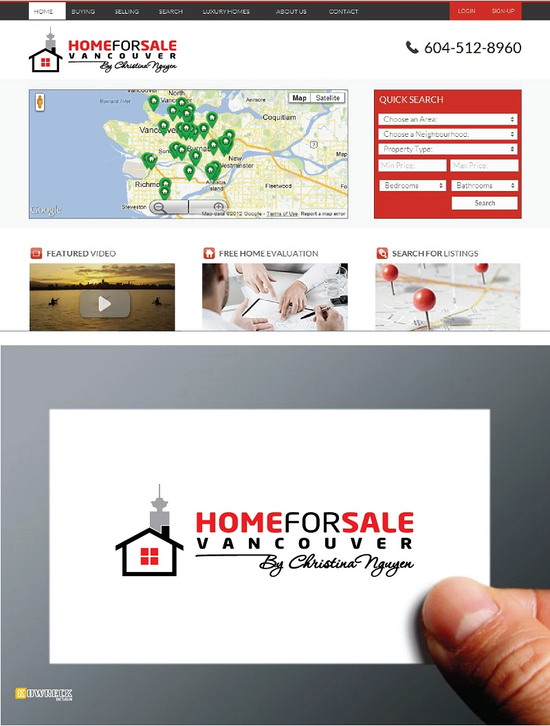 Logo Design by kowreck - Entry No. 130 in the Logo Design Contest New Logo Design for HomeForSaleVancouver.