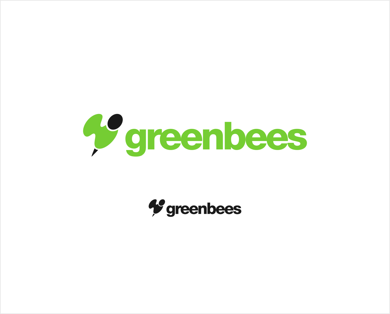 Logo Design by Jorge Sardon - Entry No. 259 in the Logo Design Contest Greenbees Logo Design.