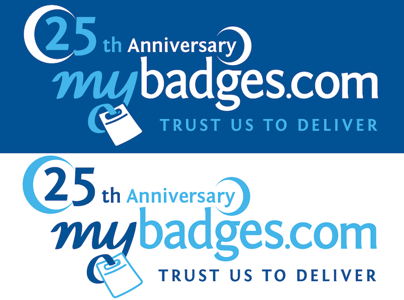 Logo Design by Thanasis Athanasopoulos - Entry No. 88 in the Logo Design Contest 25th Anniversary Logo Design Wanted for MyBadges.com.
