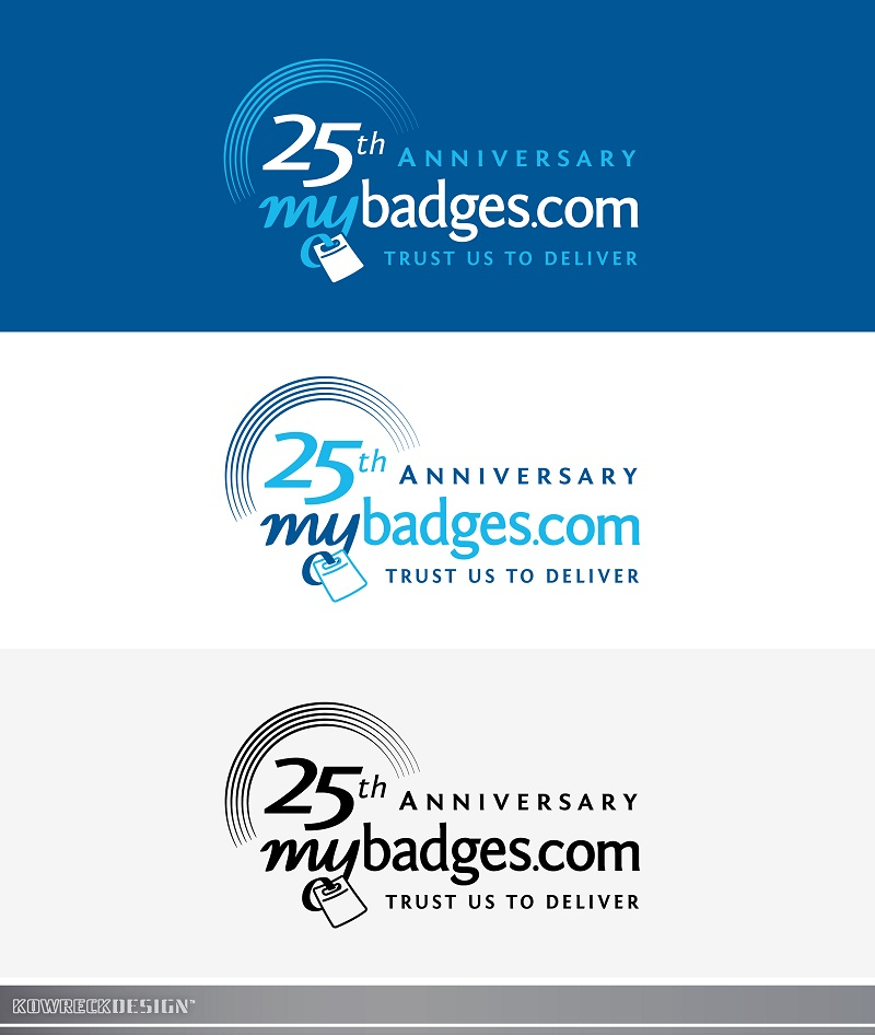 Logo Design by kowreck - Entry No. 89 in the Logo Design Contest 25th Anniversary Logo Design Wanted for MyBadges.com.