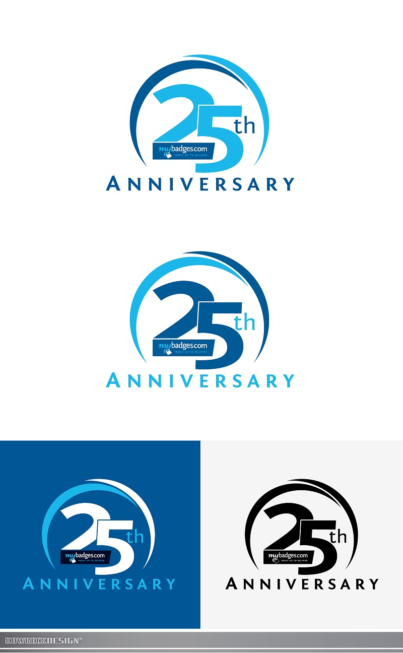 Logo Design by kowreck - Entry No. 91 in the Logo Design Contest 25th Anniversary Logo Design Wanted for MyBadges.com.