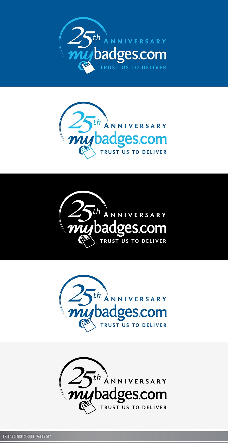 Logo Design by kowreck - Entry No. 93 in the Logo Design Contest 25th Anniversary Logo Design Wanted for MyBadges.com.