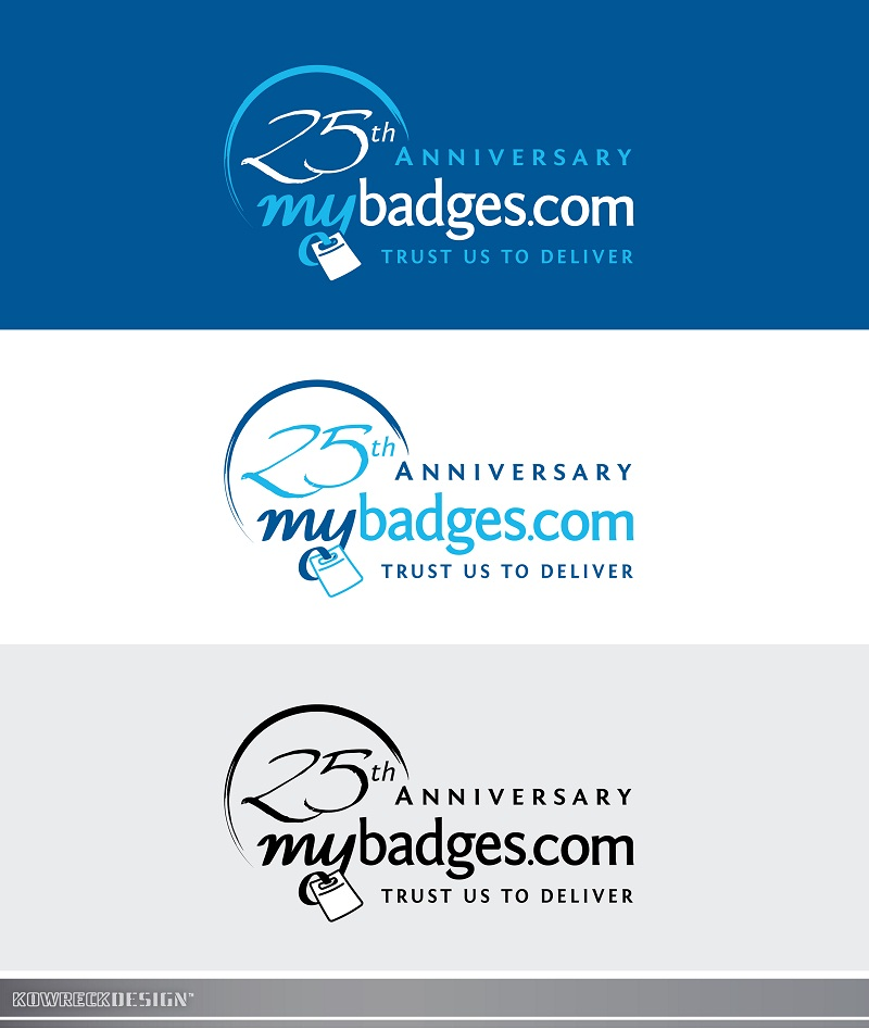 Logo Design by kowreck - Entry No. 98 in the Logo Design Contest 25th Anniversary Logo Design Wanted for MyBadges.com.