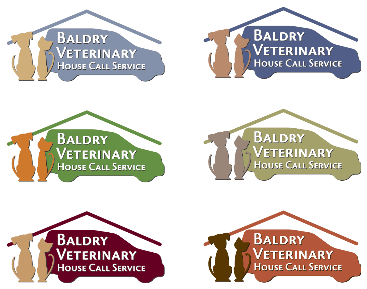 Logo Design by 4cCameron - Entry No. 126 in the Logo Design Contest Captivating Logo Design for Baldry Veterinary House Call Service.
