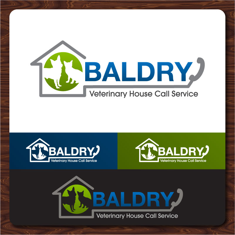 Logo Design by Rommel Delos Santos - Entry No. 127 in the Logo Design Contest Captivating Logo Design for Baldry Veterinary House Call Service.