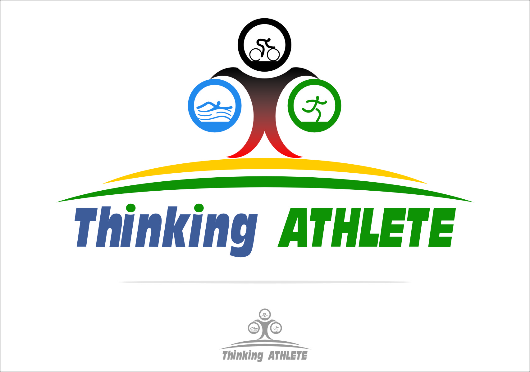 Logo Design by RasYa Muhammad Athaya - Entry No. 21 in the Logo Design Contest Thinking Athlete Logo Design.