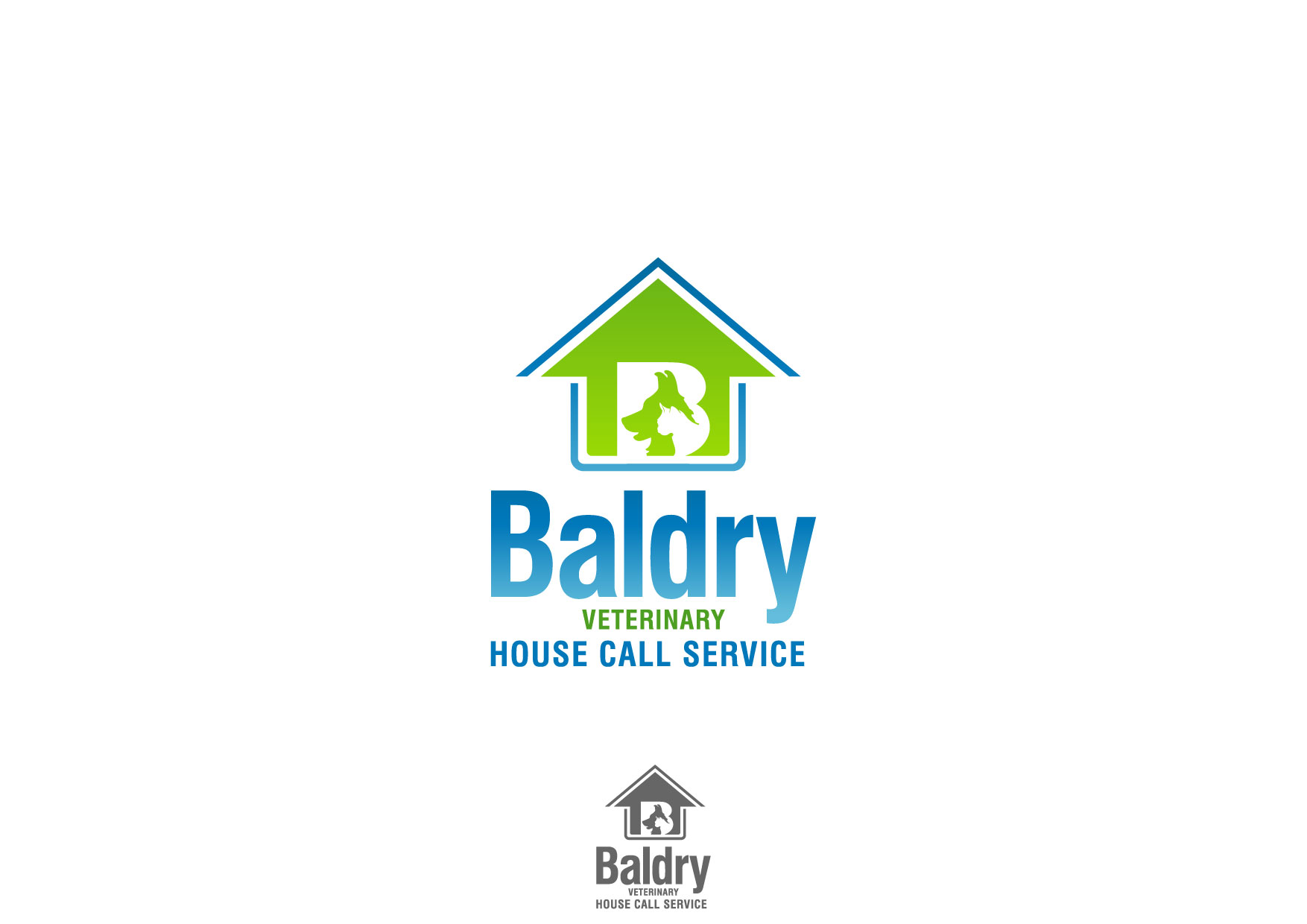 Logo Design by Nurgalih Destianto - Entry No. 128 in the Logo Design Contest Captivating Logo Design for Baldry Veterinary House Call Service.