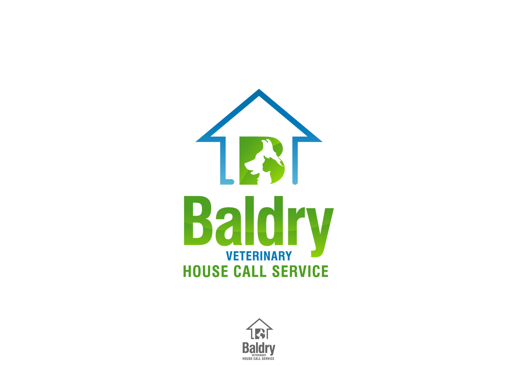 Logo Design by Nurgalih Destianto - Entry No. 129 in the Logo Design Contest Captivating Logo Design for Baldry Veterinary House Call Service.