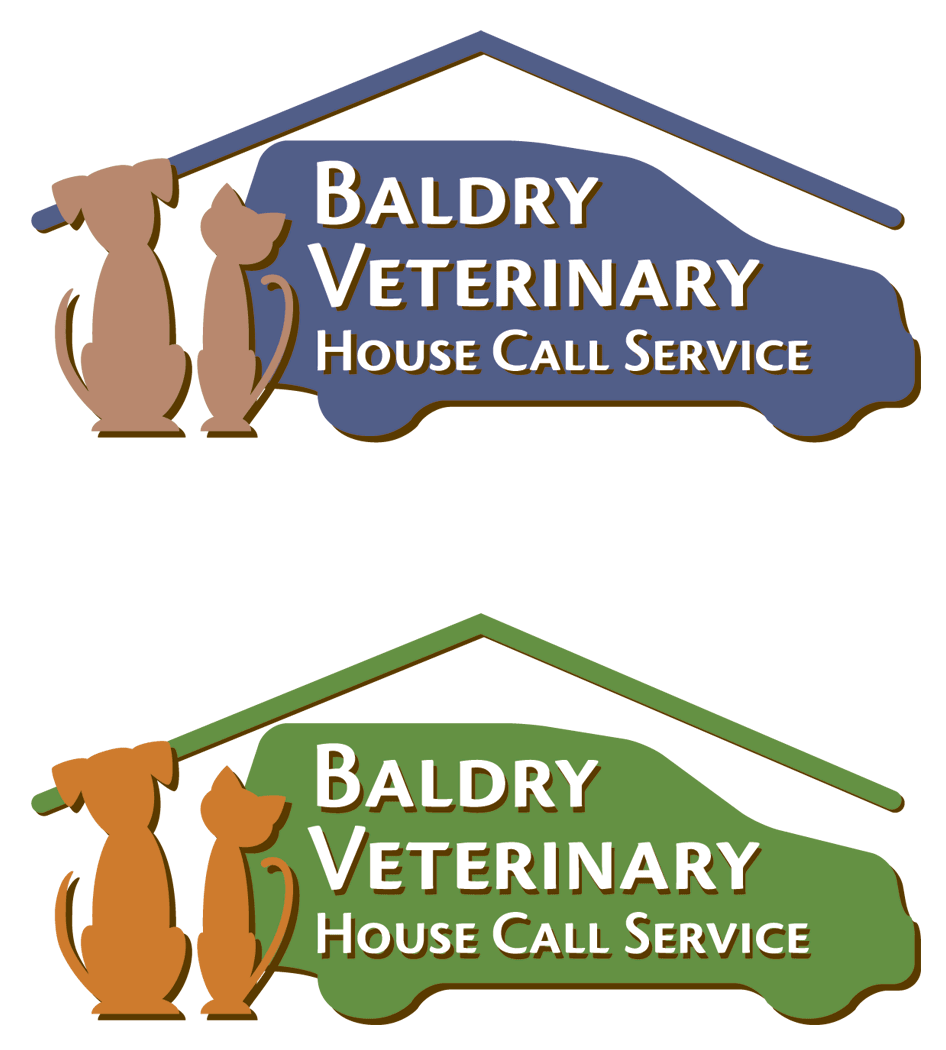 Logo Design by 4cCameron - Entry No. 130 in the Logo Design Contest Captivating Logo Design for Baldry Veterinary House Call Service.