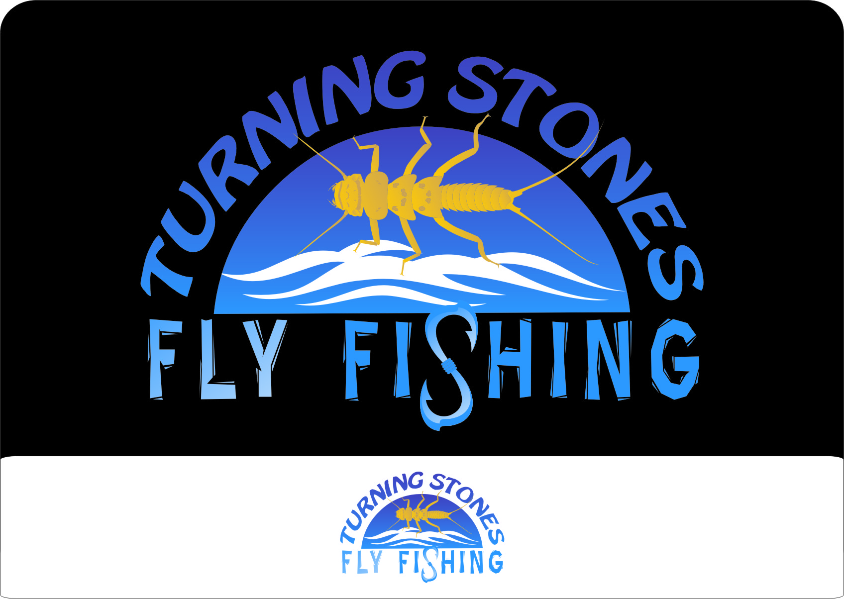 Logo Design by RoSyid Rono-Rene On Java - Entry No. 1 in the Logo Design Contest New Logo Design for Turning Stones Fly Fishing.