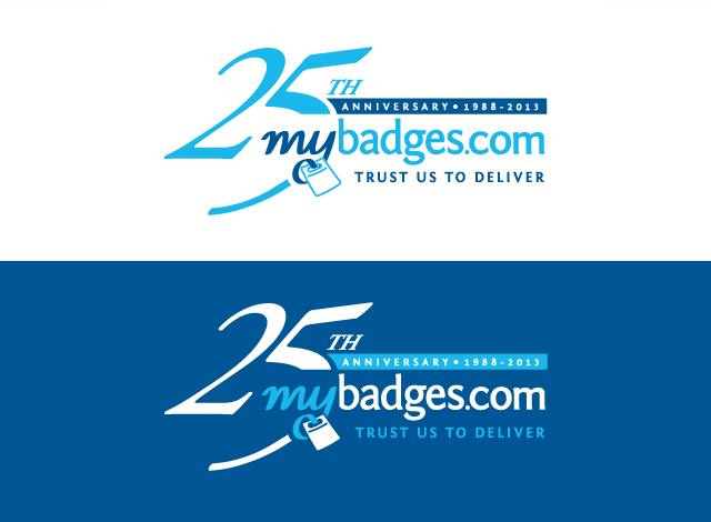 Logo Design by Private User - Entry No. 102 in the Logo Design Contest 25th Anniversary Logo Design Wanted for MyBadges.com.