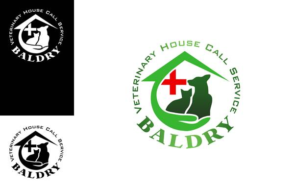 Logo Design by Respati Himawan - Entry No. 131 in the Logo Design Contest Captivating Logo Design for Baldry Veterinary House Call Service.