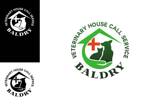 Logo Design by Respati Himawan - Entry No. 132 in the Logo Design Contest Captivating Logo Design for Baldry Veterinary House Call Service.