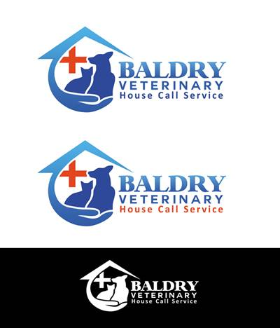 Logo Design by Respati Himawan - Entry No. 133 in the Logo Design Contest Captivating Logo Design for Baldry Veterinary House Call Service.