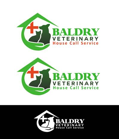 Logo Design by Respati Himawan - Entry No. 134 in the Logo Design Contest Captivating Logo Design for Baldry Veterinary House Call Service.