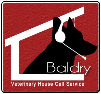 Logo Design by Israel Asok - Entry No. 135 in the Logo Design Contest Captivating Logo Design for Baldry Veterinary House Call Service.