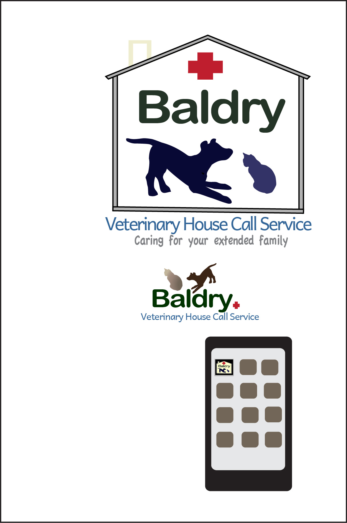 Logo Design by Nancy Grant - Entry No. 137 in the Logo Design Contest Captivating Logo Design for Baldry Veterinary House Call Service.