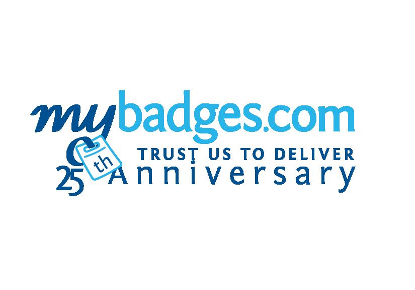 Logo Design by Mohamed Abdulrub - Entry No. 107 in the Logo Design Contest 25th Anniversary Logo Design Wanted for MyBadges.com.