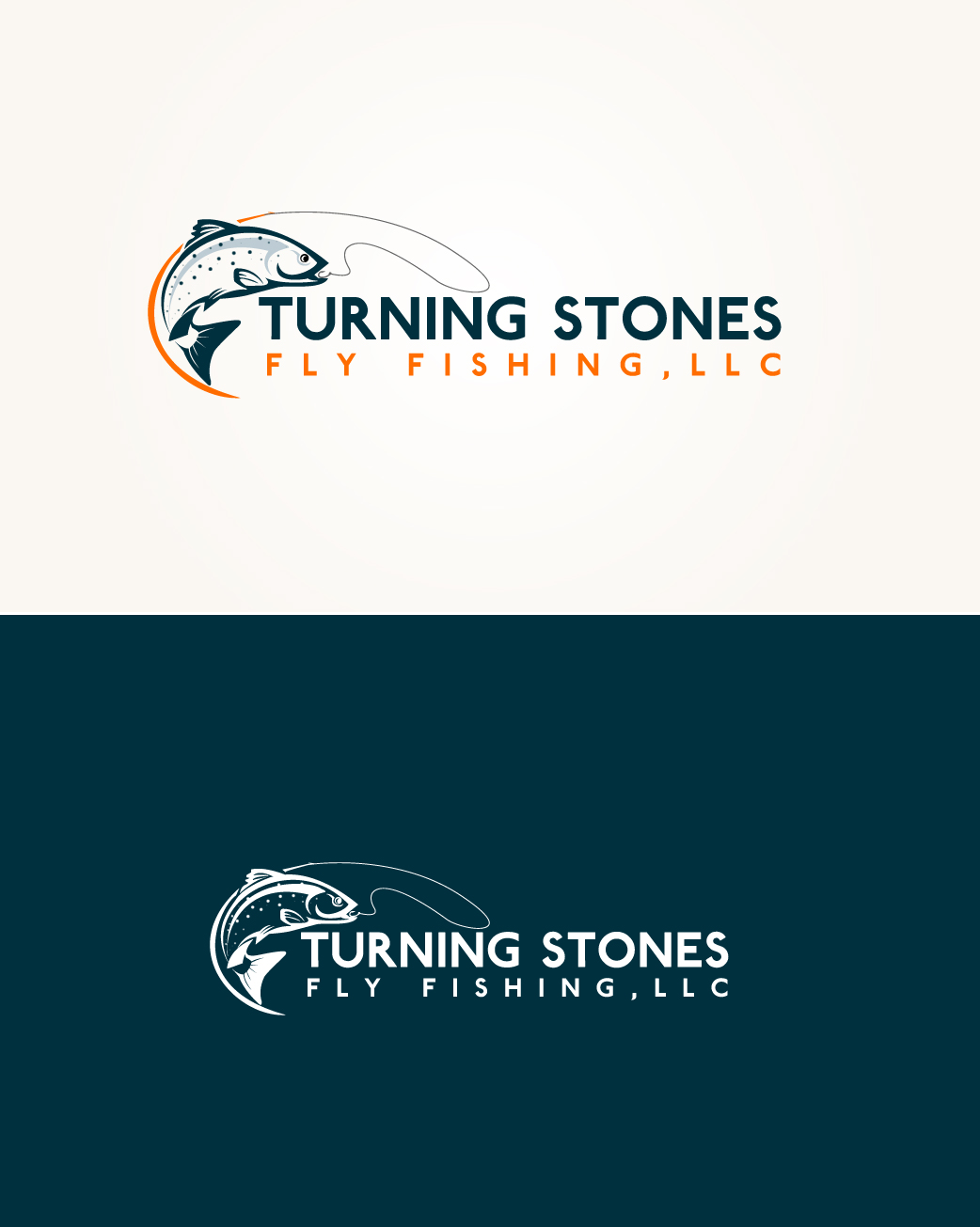 Logo Design by Tarek Khenfir - Entry No. 4 in the Logo Design Contest New Logo Design for Turning Stones Fly Fishing.