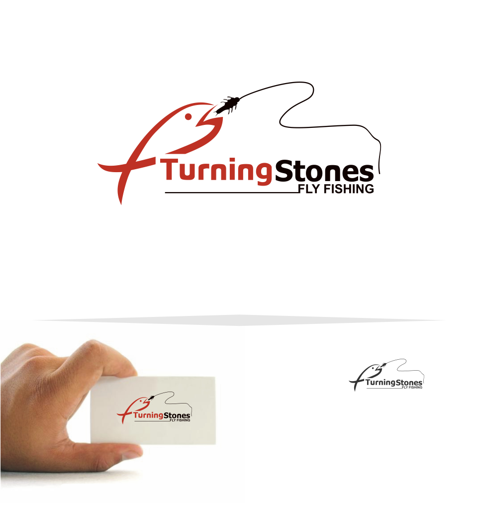 Logo Design by Mitchnick Sunardi - Entry No. 7 in the Logo Design Contest New Logo Design for Turning Stones Fly Fishing.