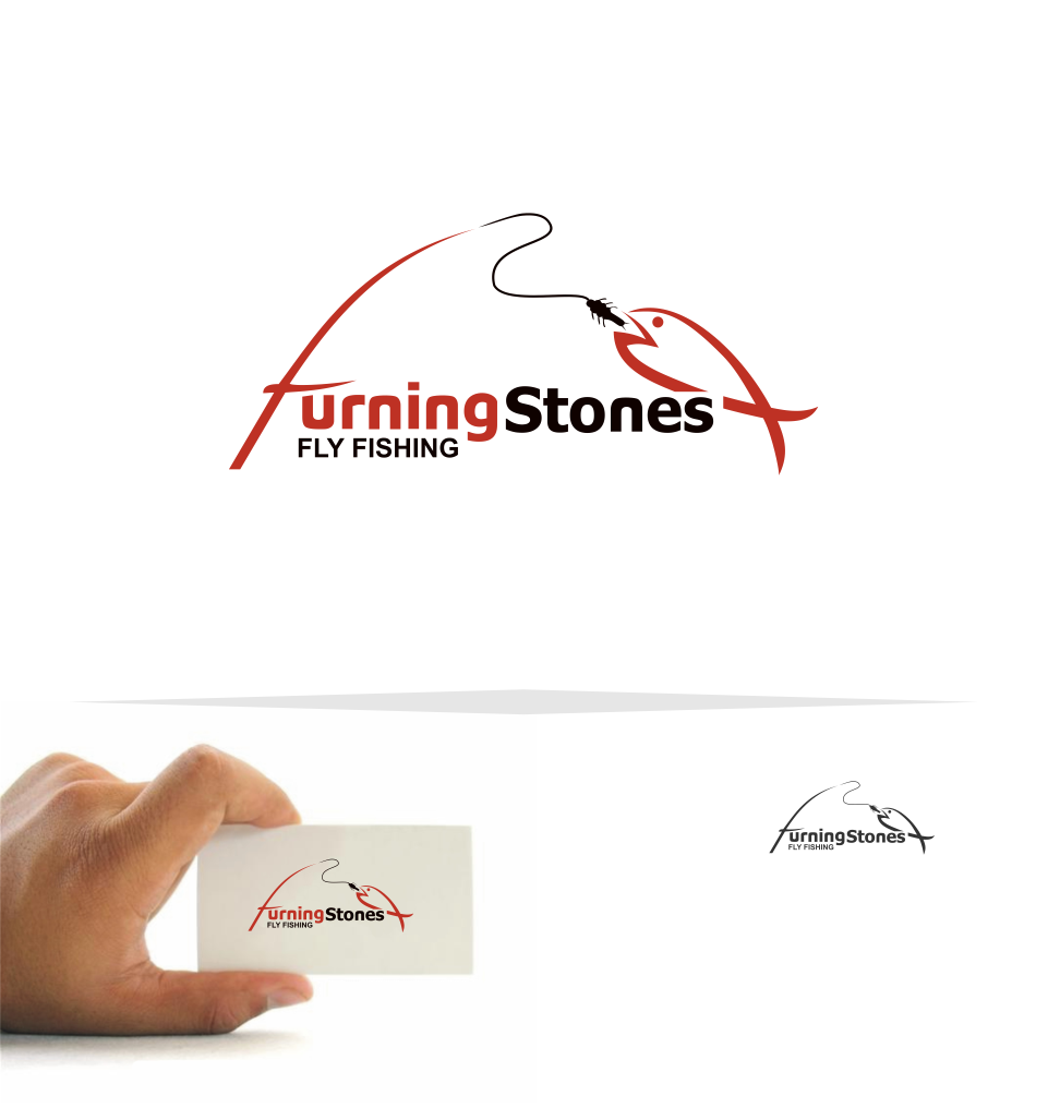 Logo Design by Mitchnick Sunardi - Entry No. 8 in the Logo Design Contest New Logo Design for Turning Stones Fly Fishing.