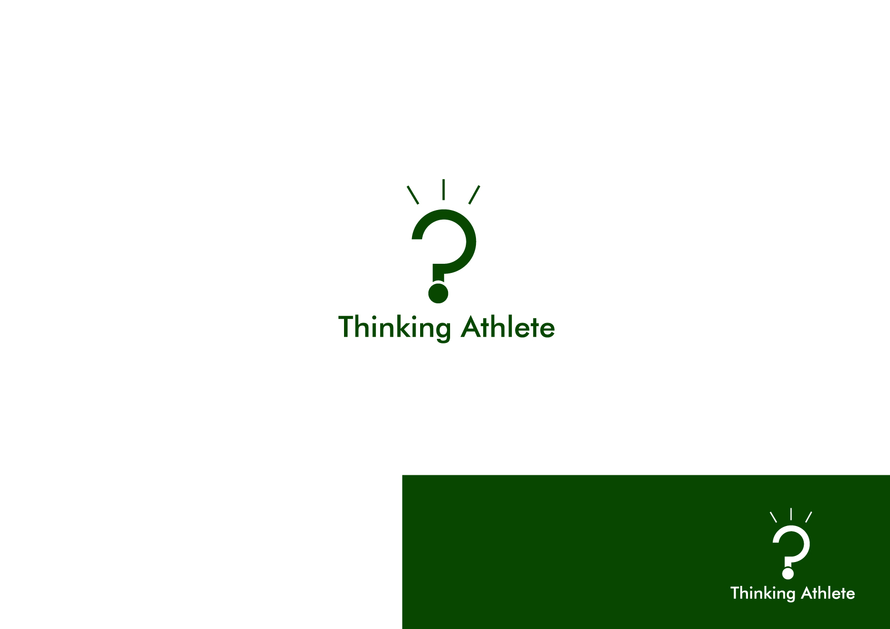 Logo Design by Osi Indra - Entry No. 49 in the Logo Design Contest Thinking Athlete Logo Design.