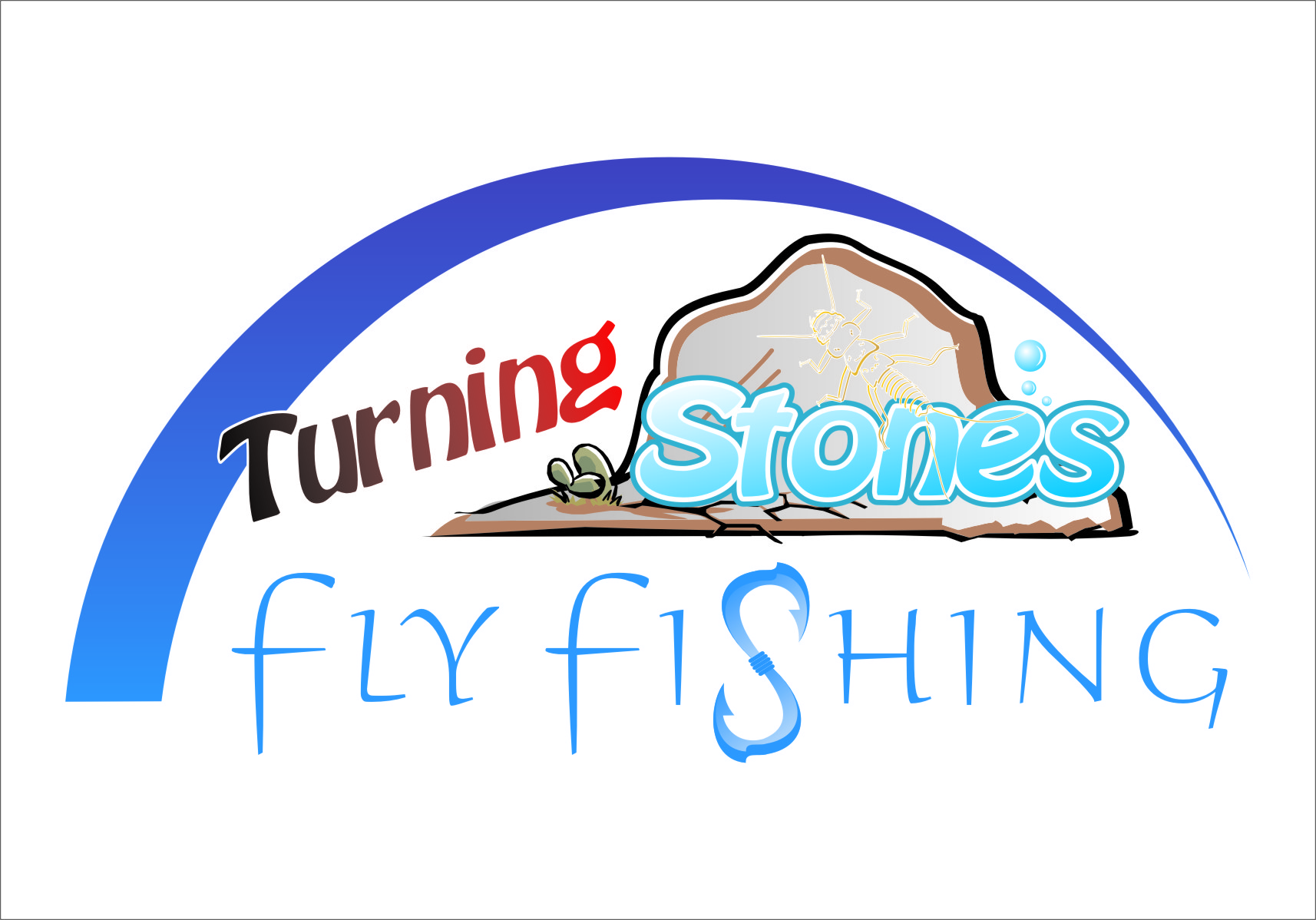 Logo Design by Ngepet_art - Entry No. 11 in the Logo Design Contest New Logo Design for Turning Stones Fly Fishing.