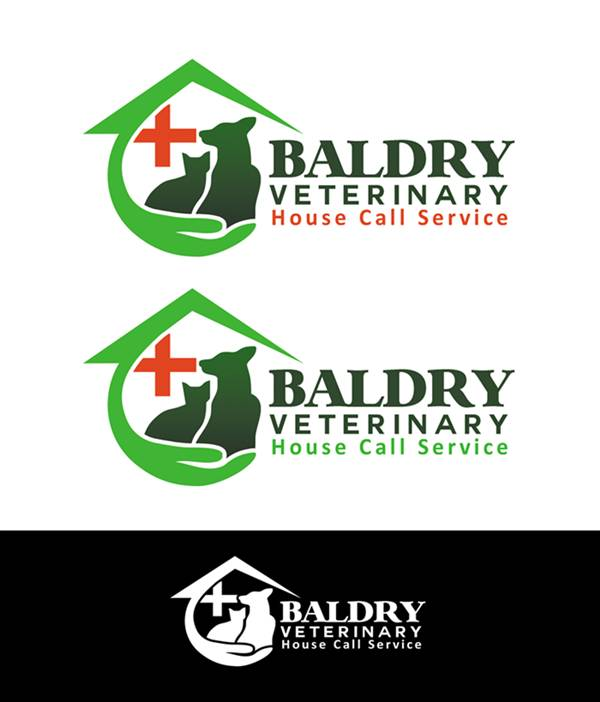 Logo Design by Respati Himawan - Entry No. 139 in the Logo Design Contest Captivating Logo Design for Baldry Veterinary House Call Service.