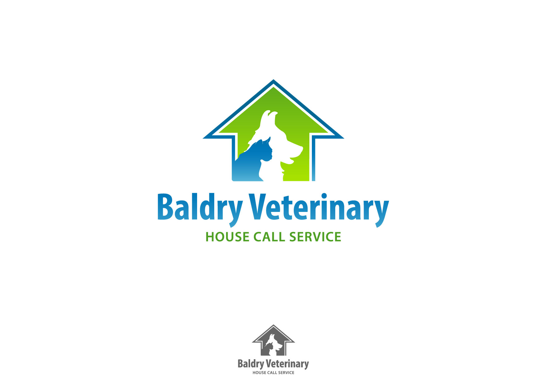 Logo Design by Nurgalih Destianto - Entry No. 142 in the Logo Design Contest Captivating Logo Design for Baldry Veterinary House Call Service.
