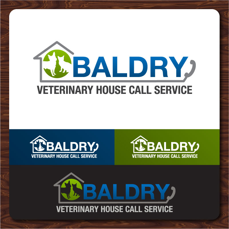Logo Design by Rommel Delos Santos - Entry No. 144 in the Logo Design Contest Captivating Logo Design for Baldry Veterinary House Call Service.