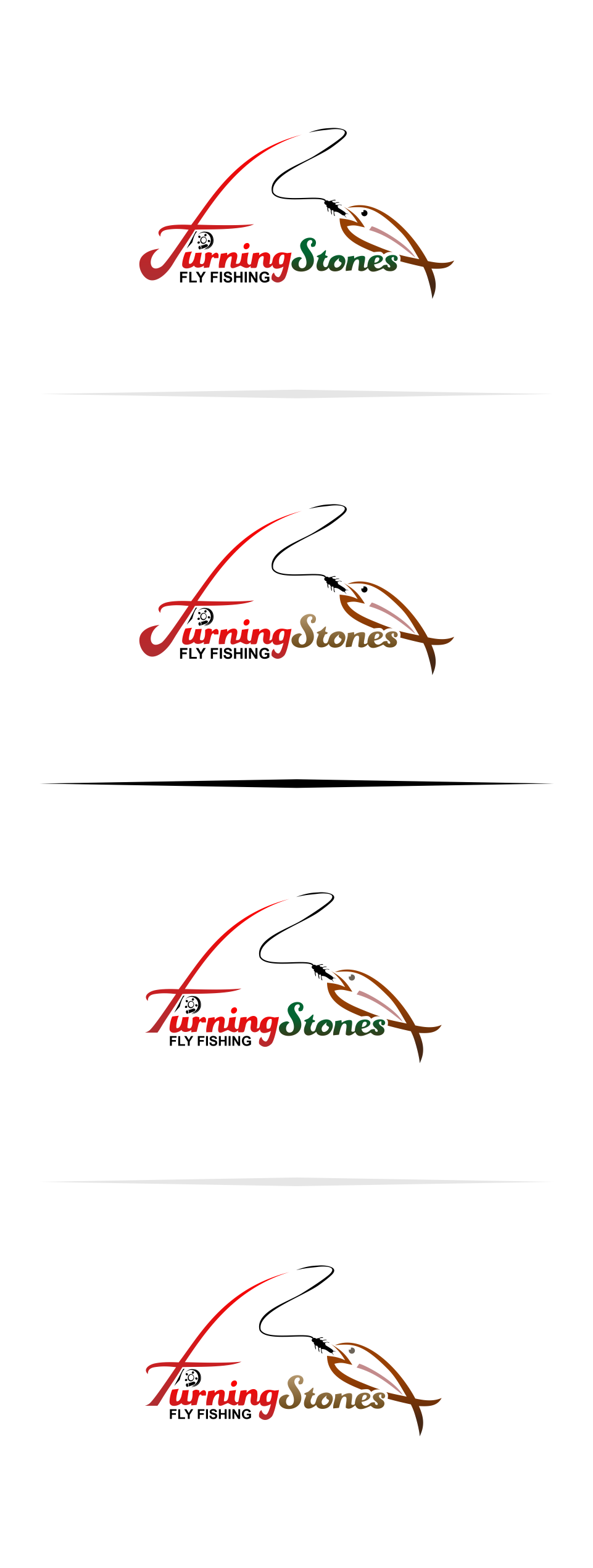 Logo Design by Mitchnick Sunardi - Entry No. 16 in the Logo Design Contest New Logo Design for Turning Stones Fly Fishing.